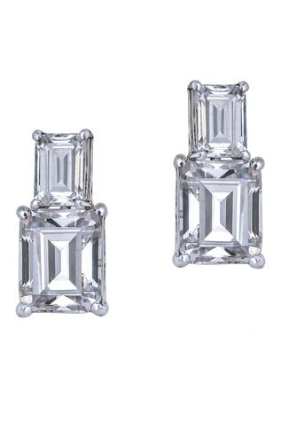 Crystal Tiered Studs