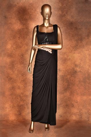 Embroidered Pre-Draped Saree