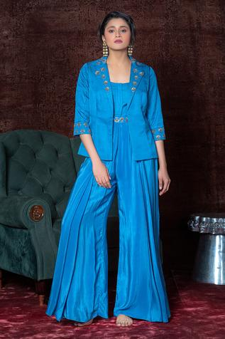 Pleated Jumpsuit with Jacket