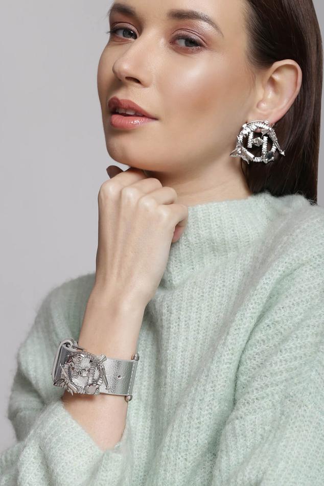 Metallic Vegan Leather Astra Bracelet