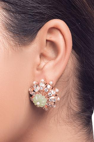 Carved Floral Mini Studs