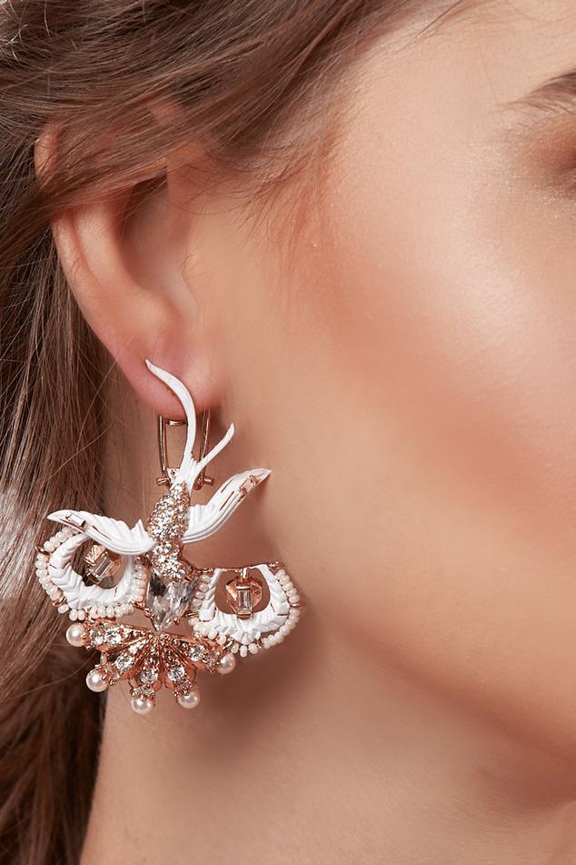 Lophorina Twirl Statement Earrings