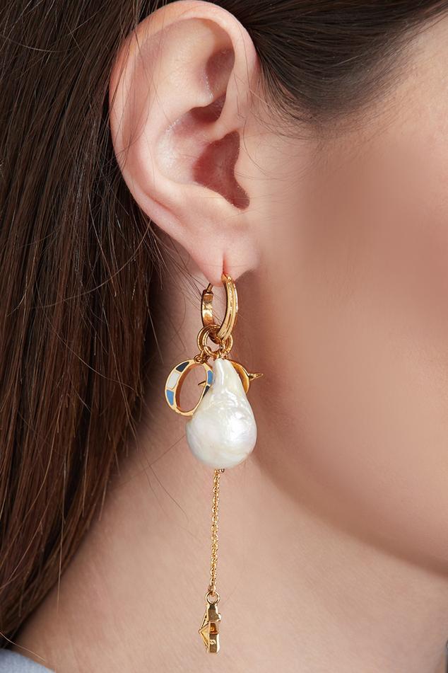 Etoile Bead Drop Long Earrings