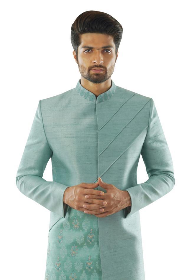 Linen Silk Sherwani Set