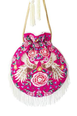 Embroidered Tassel Potli Bag
