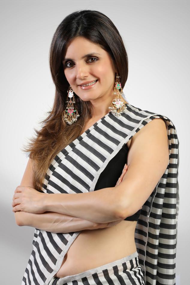 Striped Chanderi Saree