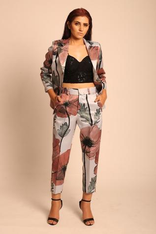 Printed Jacket & Pant Set