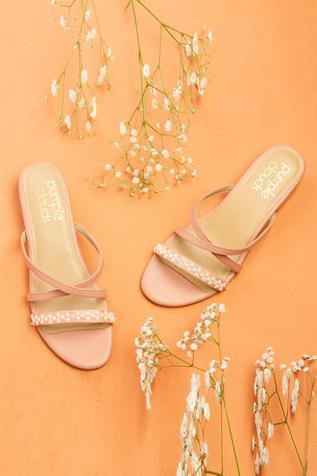Floral Embroidered Block Heels