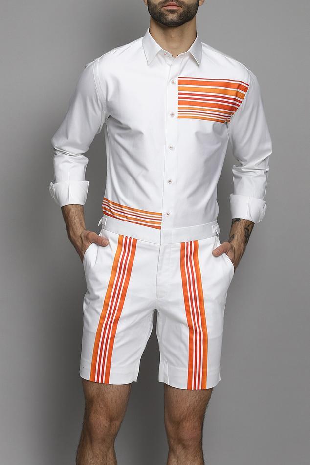 Striped Shirt & Short Set