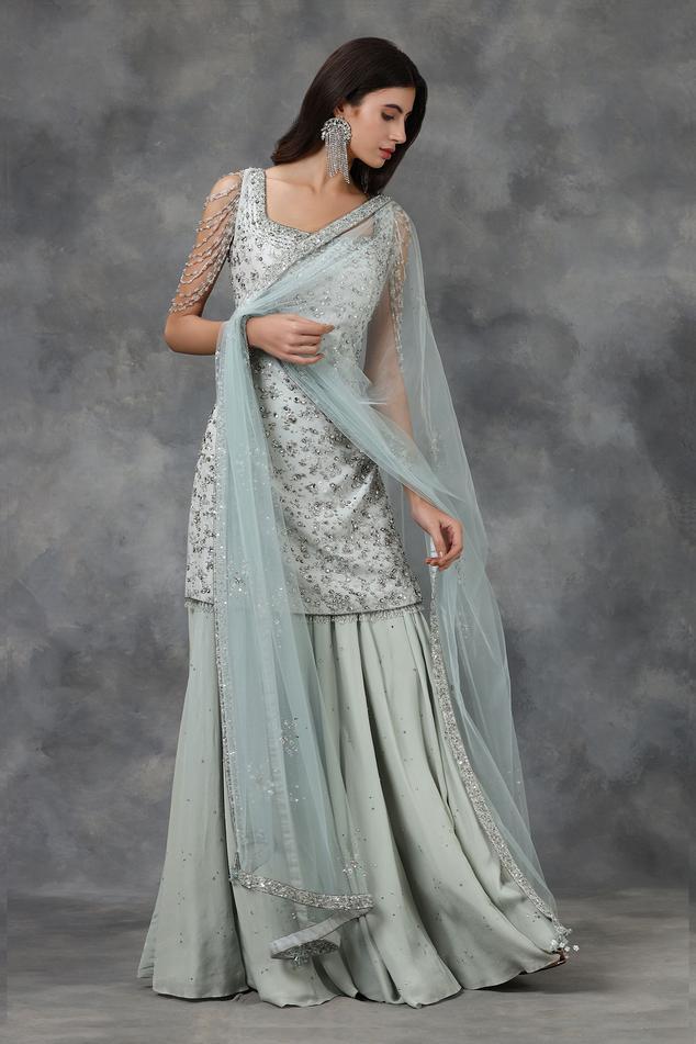 Silk Embellished Kurta Set