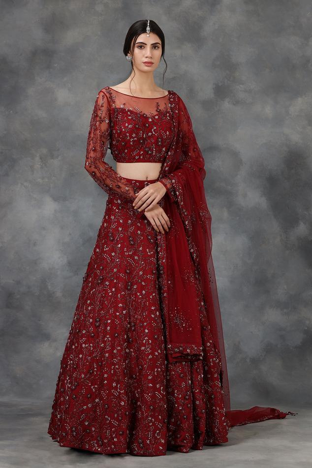 Silk Embellished Lehenga Set