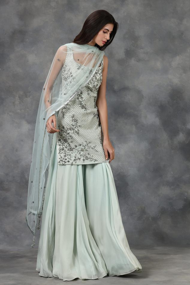 Embellished Silk Organza Kurta Set