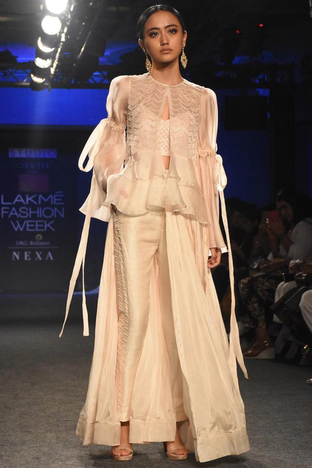 Raw Silk Pant Set with Jacket