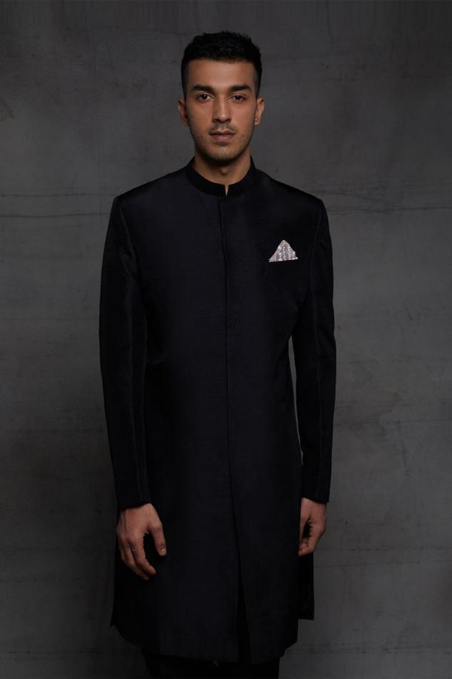 Silk Sherwani & Pant Set