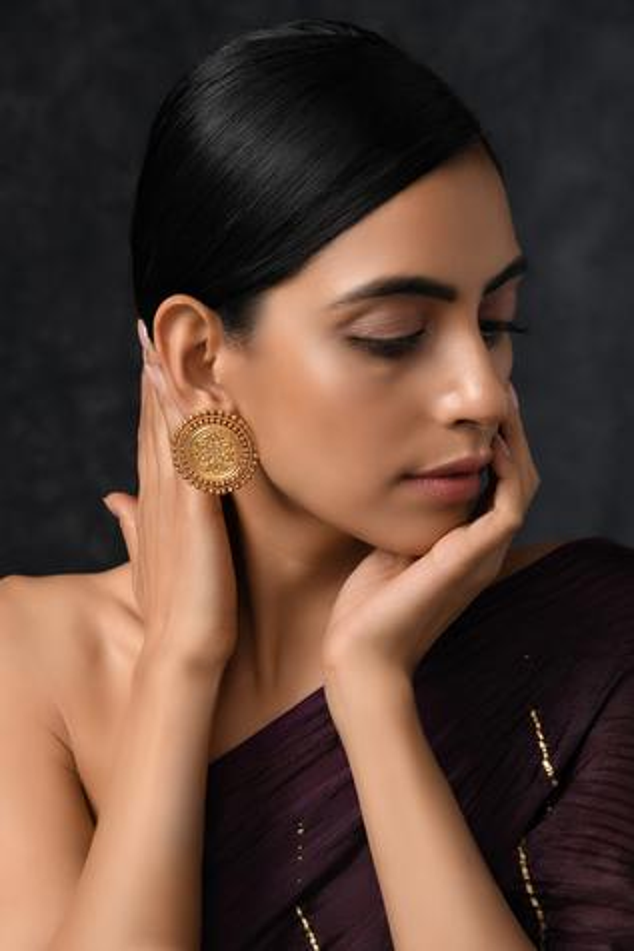 Handcrafted Temple Stud Earrings