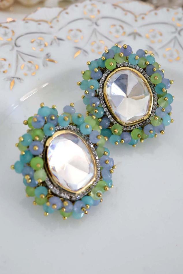 Polki Stud Earrings