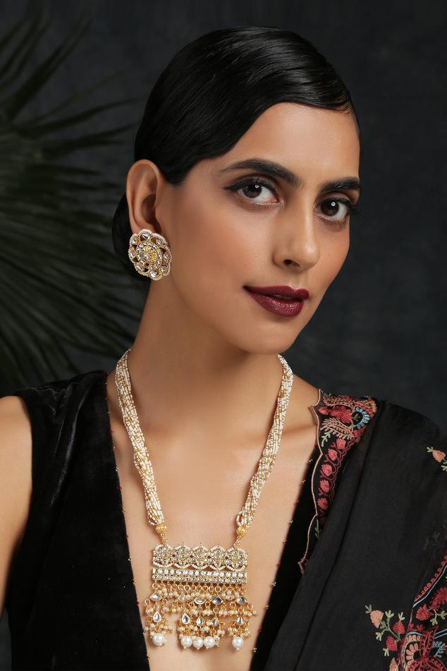 Kundan Pendant Necklace Set