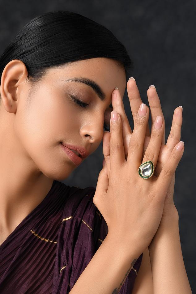 Handcrafted Meenakari Kundan Ring