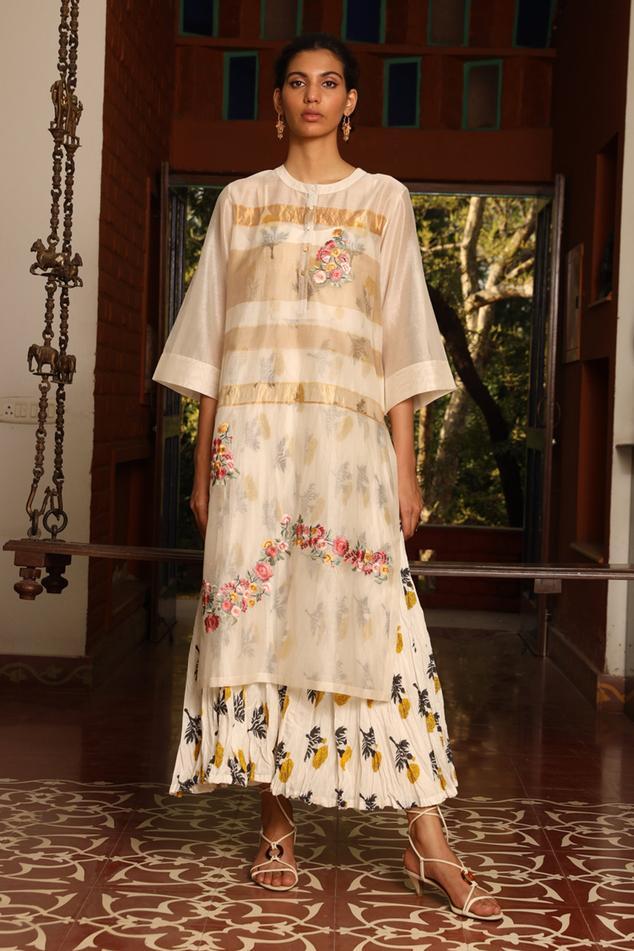 Silk Maheshwari Kurta & Dress Set