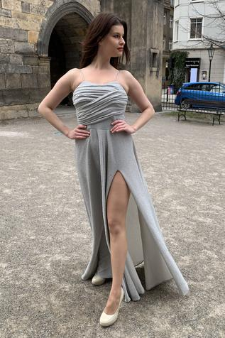 Flared Slit Gown
