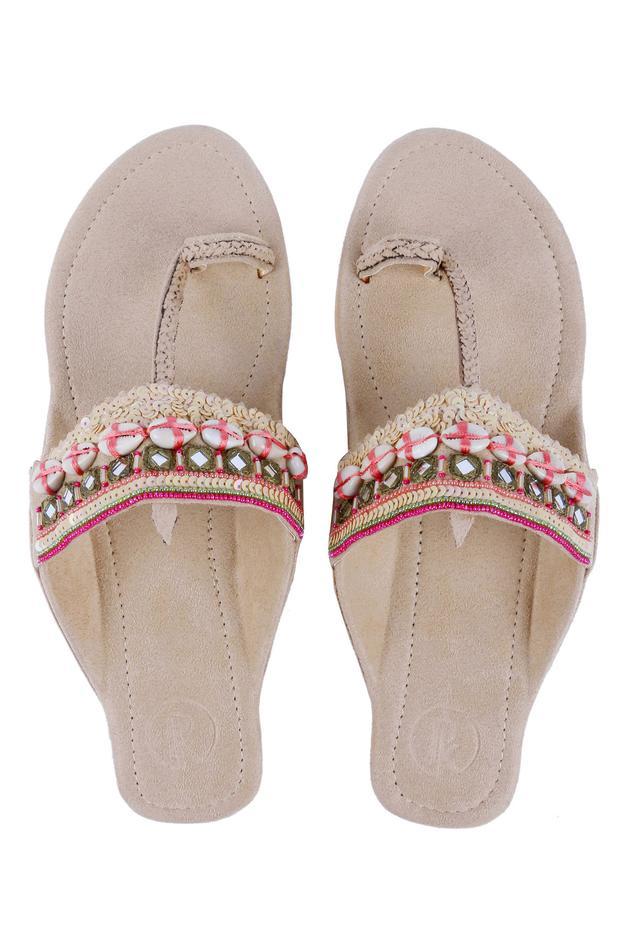 Embroidered Kolhapuri Sandals