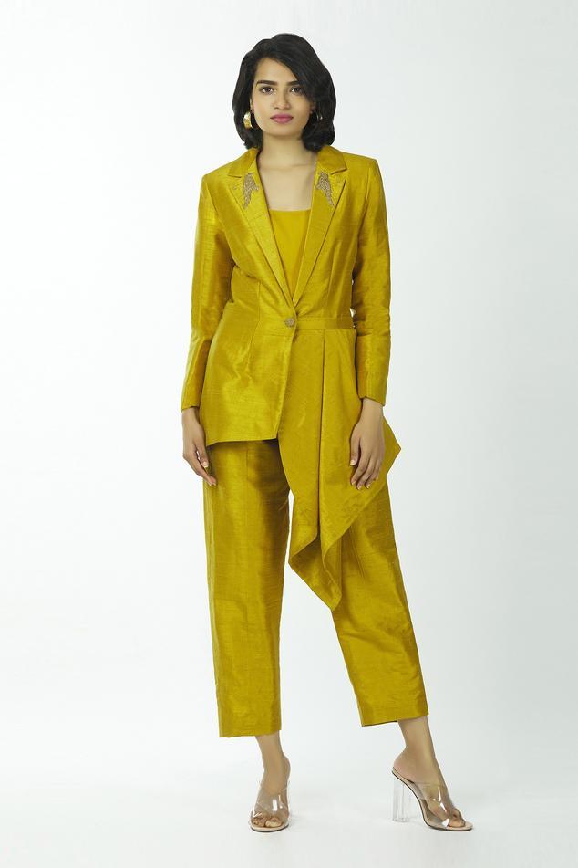 Asymmetric Blazer & Pant Set