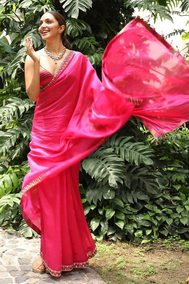 Silk Organza Saree with Blouse