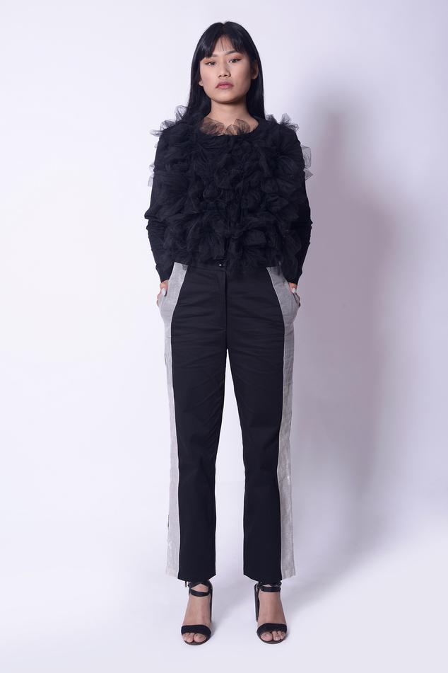 Chanderi Silk Straight Pant