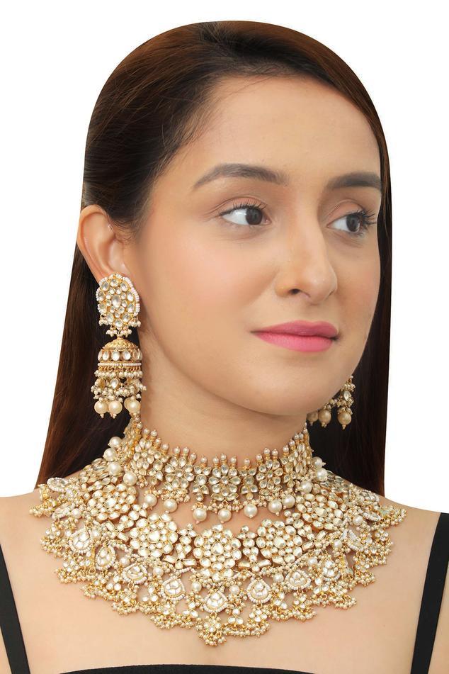 Floral Stone Necklace Set
