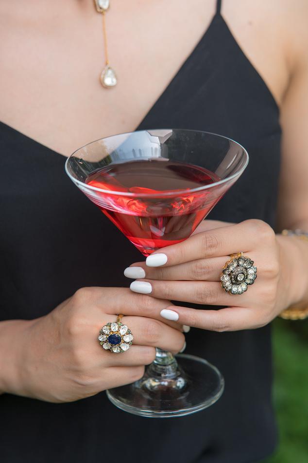 Floral Uncut Diamond Ring