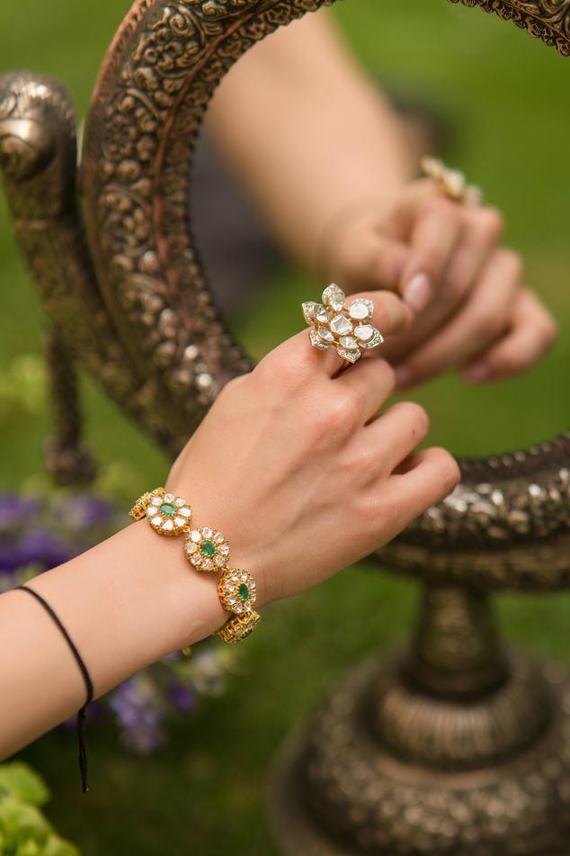 Snowflake Flower Diamond Ring