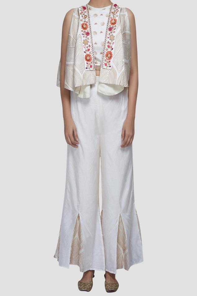 Silk Pant Set with Jacket