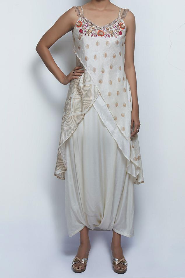 Silk Kurta with Draped Pant