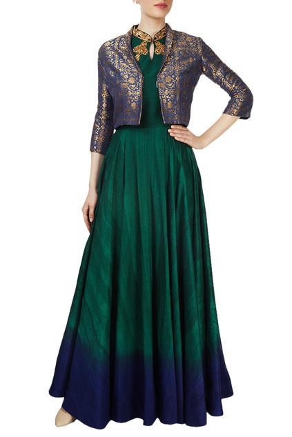 Embellished Kurta with Jacket