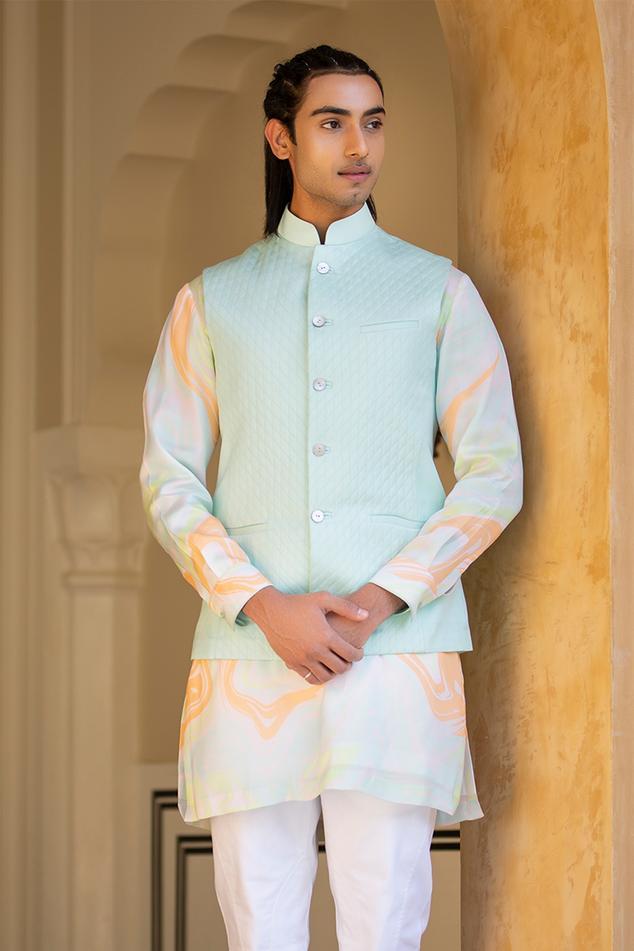 Linen Silk Nehru Jacket