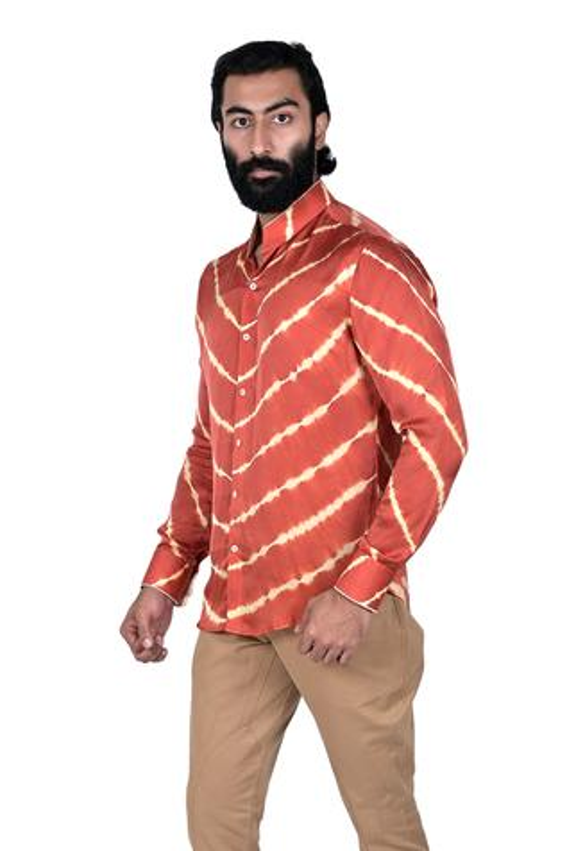 Silk Leheriya Shirt