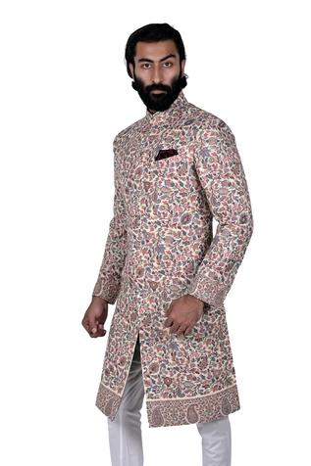 Cotton Silk Sherwani Set
