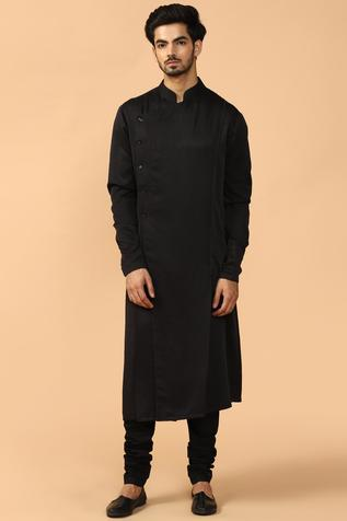Overlap Kurta Churidar Set