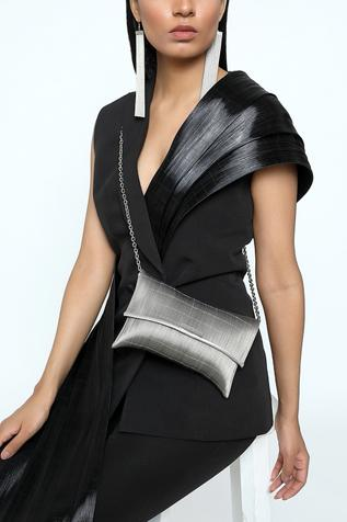 Metallic Flap Clutch with Sling