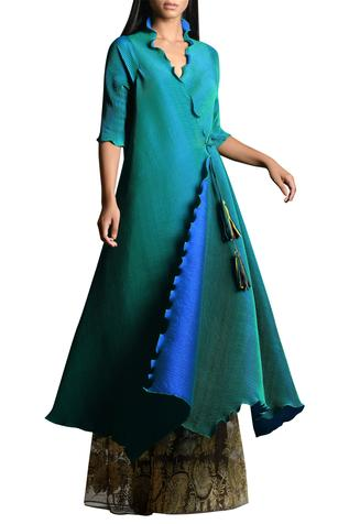 Pleated Angrakha Kurta