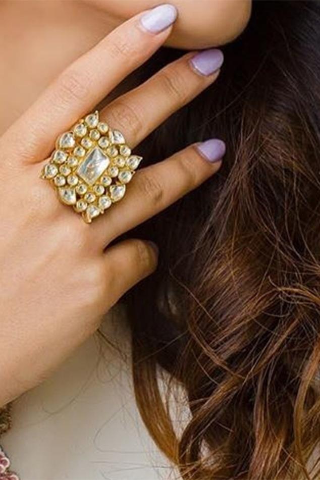 Geometric Stone Ring