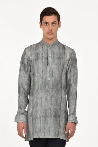Silk Printed Short Kurta