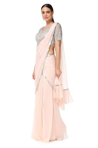 Embroidered Lehenga Saree with Blouse