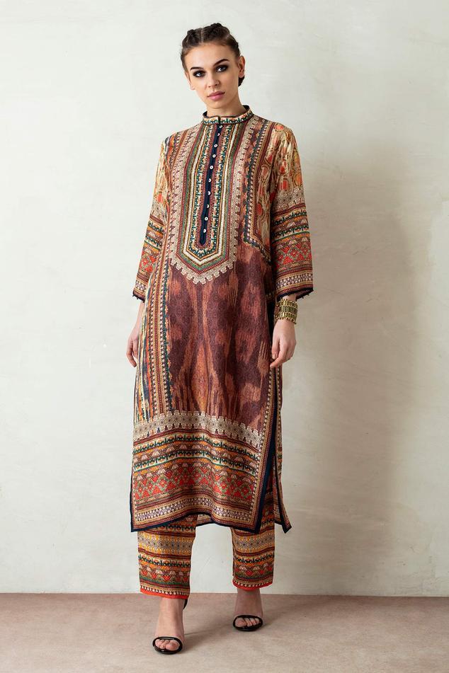 Ramin Silk Tunic & Pant Set
