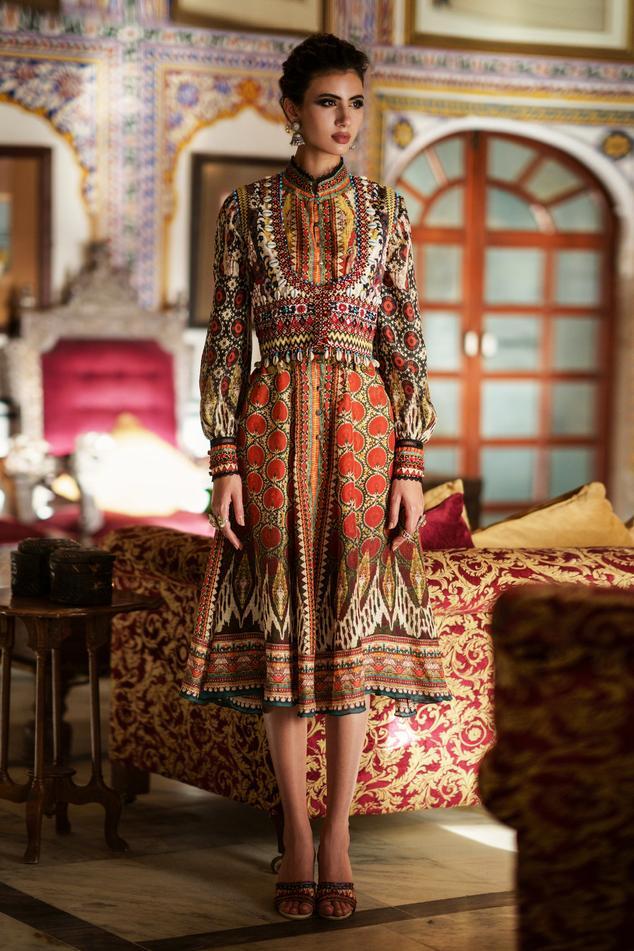 Reha Silk Midi Dress