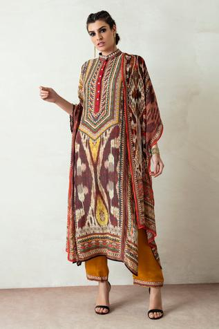 Ghazala Silk Tunic Set
