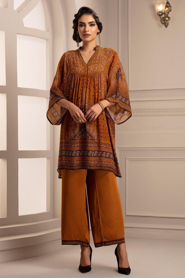 Silk Short Tunic & Pant Set