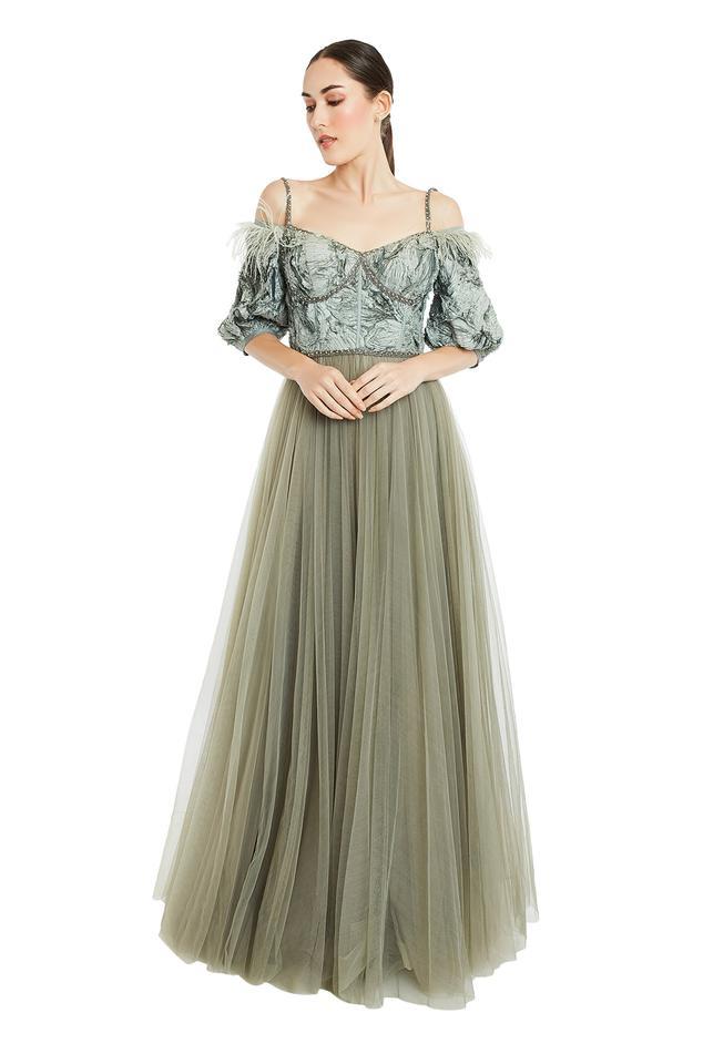 Silk Textured Gown