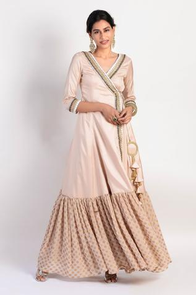 Paper Silk Embellished Angrakha