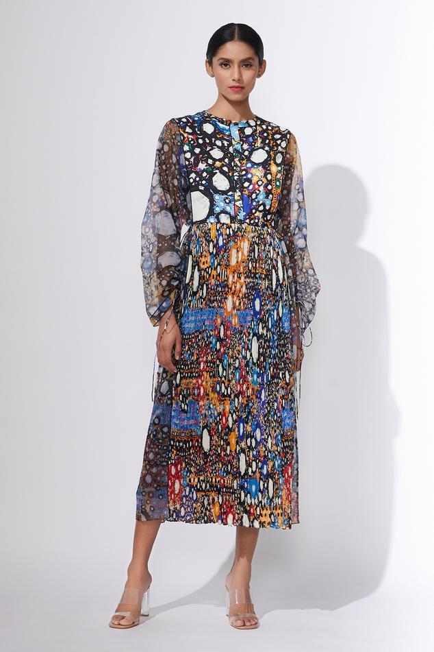 Hand Micro Pleated Dress